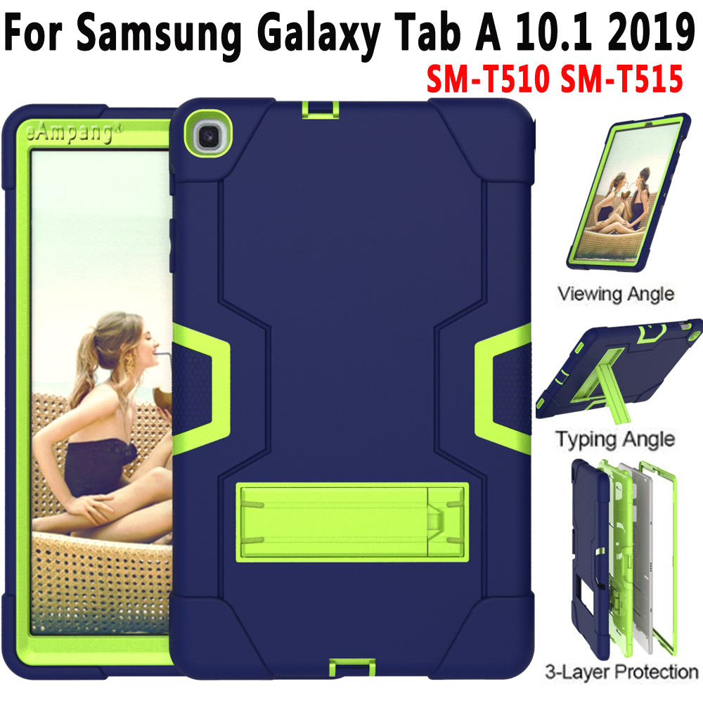 For Samsung Galaxy Tab A <font><b>10.1</b></font> 2019 T510 T515 <font><b>Case</b></font> <font><b>Kids</b></font> Shockproof Silicone Protective Cover SM-T510 SM-T515 <font><b>Tablet</b></font> <font><b>Case</b></font> Funda image