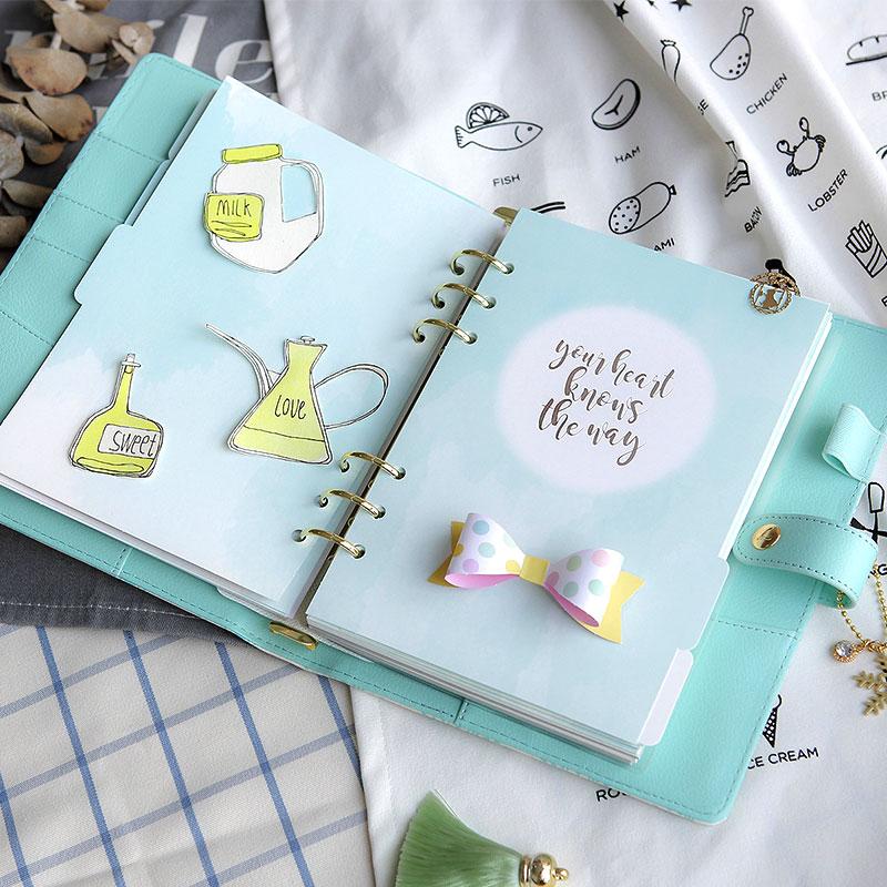 2019 Ny Dokibook Notebook Planner Tillbehör Snowflake Series - Block och anteckningsböcker - Foto 5