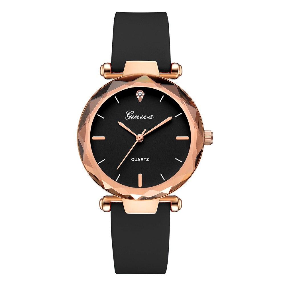 Fashion Womens Ladies Watches Geneva Silica Band Analog Quartz Wrist Watch luxury watch women watch women black #XTN