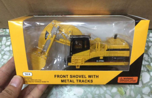 Front Shovel With Metal Tracks C-cool Model Lovely Luster 1/64 Scale Diecast Model