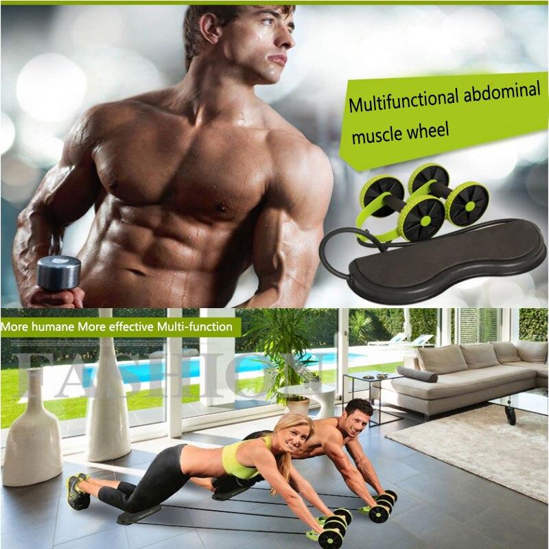 Multifonctionnel Fitness puissance rouleau roue hommes et femmes silencieux en plastique bureau maison Gym taille jambes équipement de formation