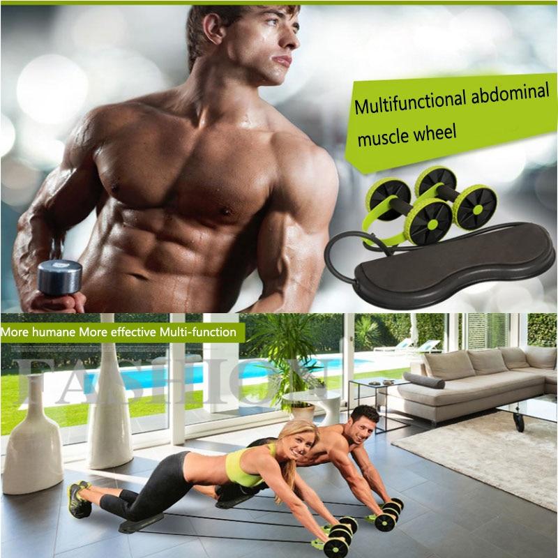 Multifunctional Fitness Power Roller Wheel Men And Women Silent Plastic Office Home Gym Waist Legs Training Equipment