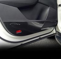 4 шт. для SKODA KODIAQ дверь ногами украшения крышка из углеродного волокна узор