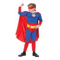 LMFC Superhero Kids Muscle Captain America Costume Avengers Child Cosplay Super Hero Halloween Costumes For Kids