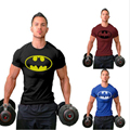 2016 Hombres Fitness Camiseta culturismo Muscular largueros batman Batman camiseta