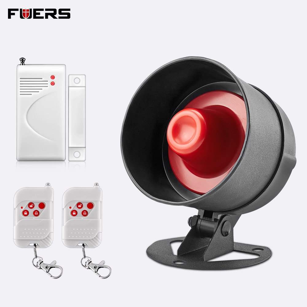 FUERS Alarm Siren Home Security System Wireless Siren Loudly Sound for House Garage 100dB Volume PIR Motion Detector ControllerFUERS Alarm Siren Home Security System Wireless Siren Loudly Sound for House Garage 100dB Volume PIR Motion Detector Controller