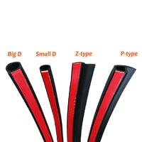 Большой D маленький D Z Форма P Тип 4 метра автомобильный уплотнитель для дверей EPDM шумоизоляция Анти-пыль звукоизоляция резиновая прокладка ...