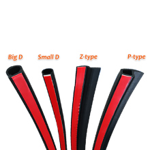 4 Meters Car Door Seal Strip Big D Small Z Shape P Type EPDM Noise Insulation Anti-Dust Acoustic Rubber Sealing