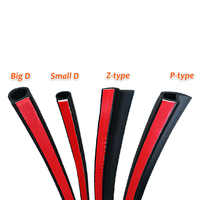 Big D Small D Z Shape P Type 4 Meters Car Door Seal Strip EPDM Noise Insulation Anti-Dust Soundproofing Car Rubber Seal