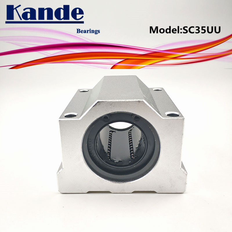 Kande Bearings 1pc SC35UU SC35 UU Linear motion Ball Bearing Slide block bushing for 35mm SC35 SC lm6luu 6 x 12 x 35mm carbon steel linear motion ball bearings