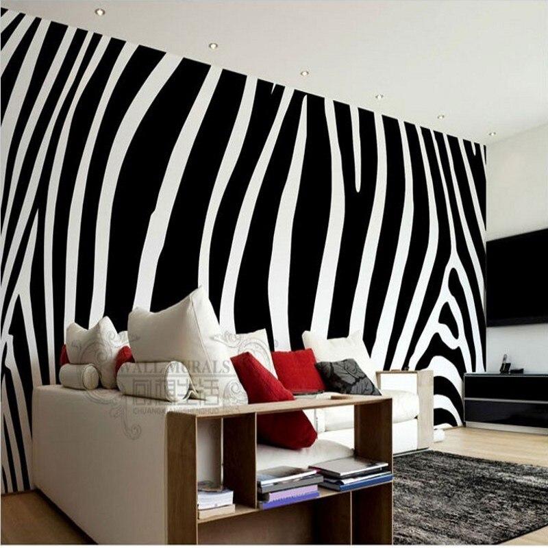 Beibehang Papel De Parede Black White Fashion Zebra Custom Wallpaper Mural Wallpaper Mural Large Bedroom Living