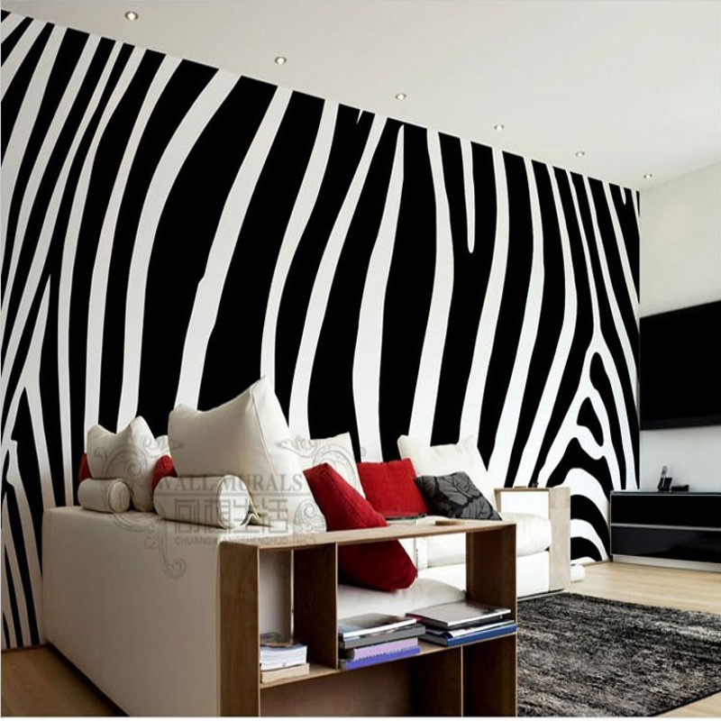 beibehang papel de parede Black white fashion zebra custom wallpaper