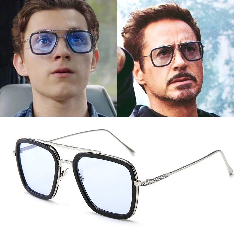 Iron Man Tony Stark Sunglasses Square Sunglasses Men 2019 Spider Man E
