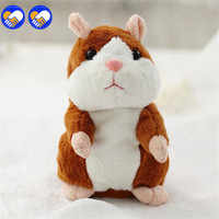 A Toy A Dream 15CM Talking Hamster Plush Toy Cute Speak Talking Sound Record Hamster Talking