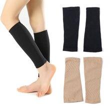 1 çift sonbahar kış kadın erkek destek ayağı Shin çorap varisli damarlar buzağı kollu sıkıştırma bilek koruyucu bacak şekillendirme