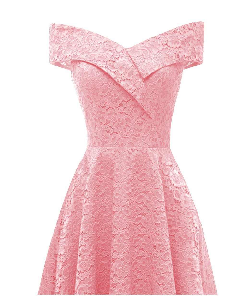 CD18 # boot-ausschnitt Rosa Kurze Spitze Brautjungfer Kleider hochzeit  kleid kleid prom großhandel Braut Hochzeit Toast kleidung China