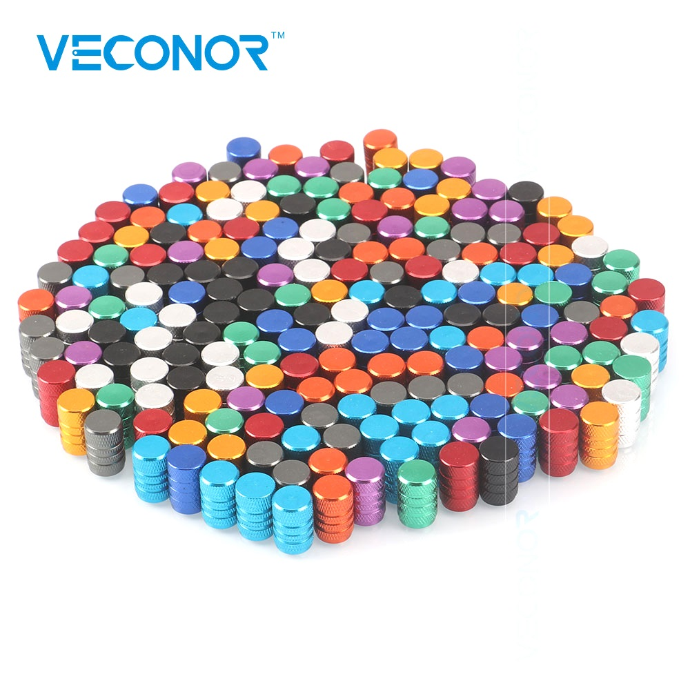80pcs Multi-color Universal Alu-alloy Tire Valve Caps For Car Truck Motorcycle Bicycle Valve Stem Cover