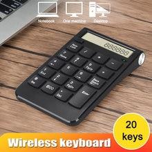 New 1 Pcs 2.4G Wireless Numeric Keyboard USB Number Mini 20 Keys For Computer PC Laptop EM88