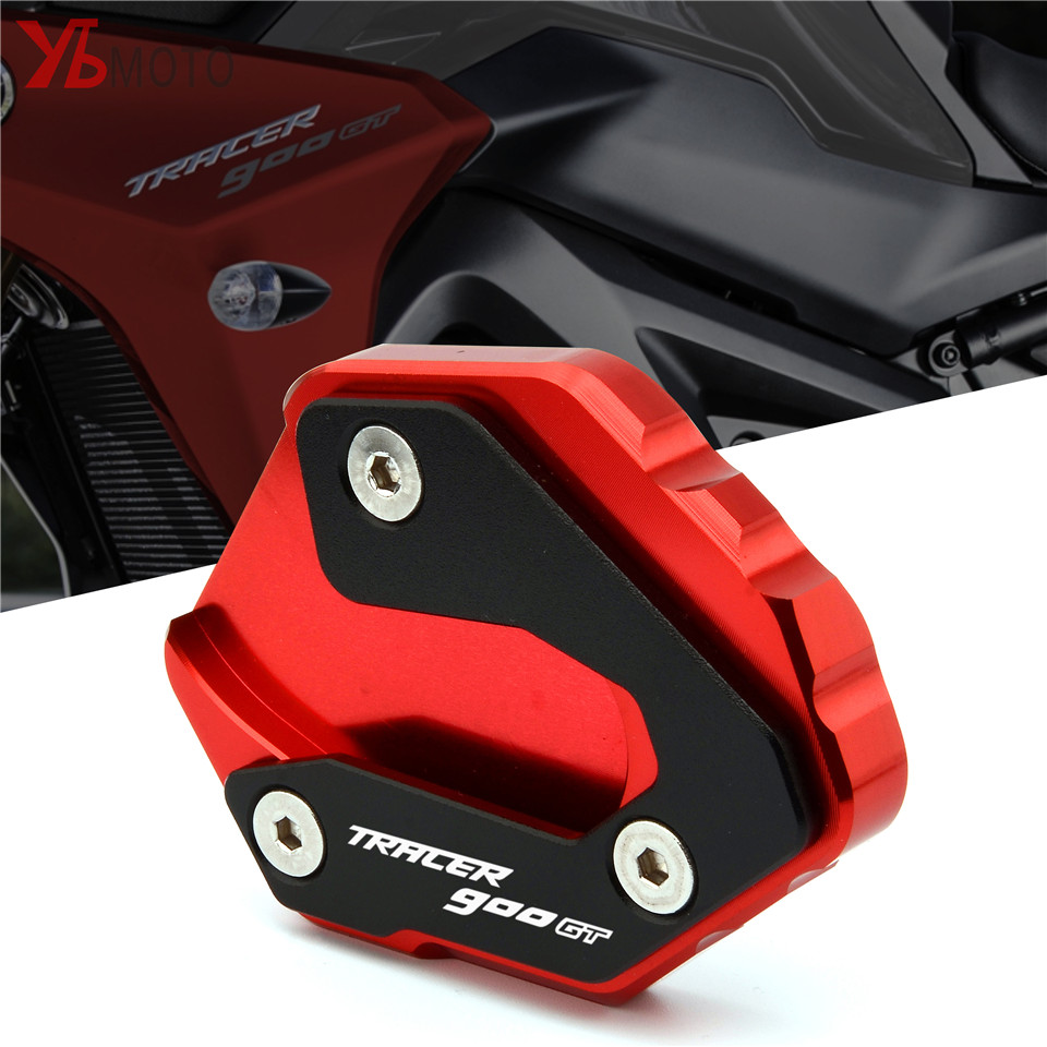 Motorcycles Accessories Kickstand Foot Side Stand Extension Pad Support Plate For Yamaha TRACER 900 GT Tracer 900GT 2018-2019