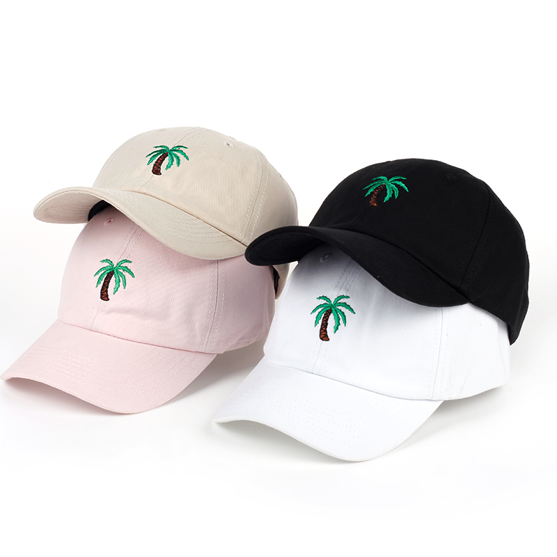 VORON Fashion Cap Women Men Summer Spring Cotton Caps Women Coconut tree Solid Adult baseball Cap Snapback Women Cap 2017 women cap skullies