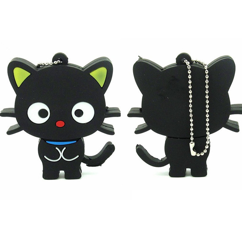Cute Cartoon Cat Usb Flash Drive Pen Drive 64gb 32gb 16gb 8gb 4gb Memory Disk Usb Stick Real Capacity Pendrive Lovely Gift Cle