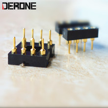 2 piece op amp seat IC socket 3 U gold plated 8 pin Operational amplifier block for Audiophile(China)
