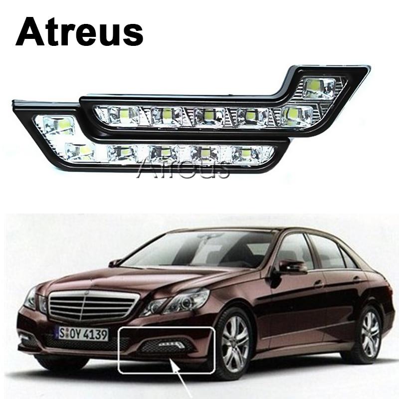 Atreus 2X For VW polo passat b5 b6 Mazda 3 6 cx-5 Toyota corolla Ford focus 2 Fiesta Car Daytime Running Lights DRL Fog Lamp LED