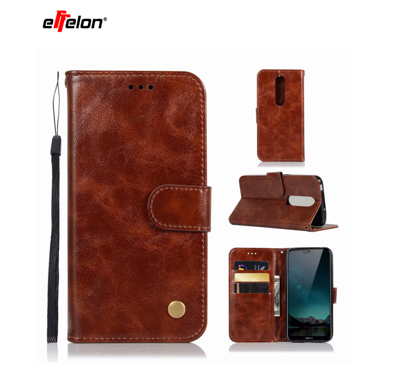 1.For Case Nokia 6.1 Plus Case Flip Wallet PU Leather Back Cover Phone Case For Nokia 6.1 Plus 6.1Plus 2018 Global Versions 5.8