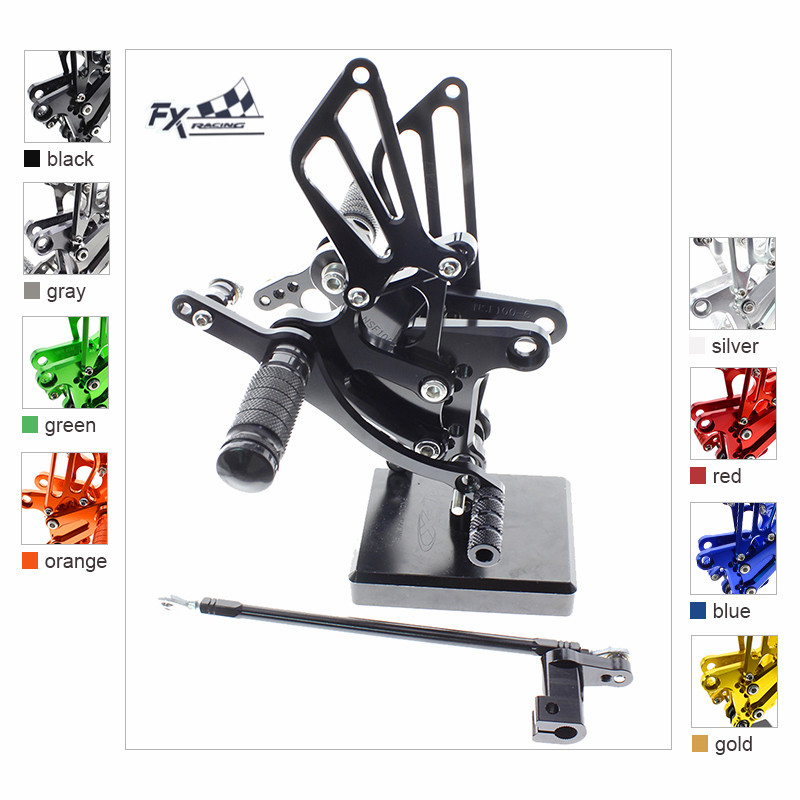 CNC Aluminum Motorcycle Footrest Rear Set Foot Pegs Rest Footpegs Pedals Rearset For Honda CBR300RR CBR 300RR 2011-2016 2012CNC Aluminum Motorcycle Footrest Rear Set Foot Pegs Rest Footpegs Pedals Rearset For Honda CBR300RR CBR 300RR 2011-2016 2012