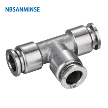 10Pcs/lot SSPUT04 SS316L Fittings Outside Diameter 04 Pneumatic Pipe Fitting(SS316L) Tube Connector