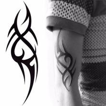 Stylish 3D Man's Half Sleeve Arm Temporary Totem Tattoo Stickers Body Art Tatoos Boys Beauty Tools