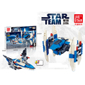 218pcs Star Wars 2 in 1 Spaceship Fighter Clone Wars Starwars troopers Ships Building Blocks Compatible with 05030