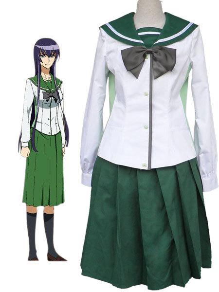Envío Gratis anime highschool of the Dead Fujimi High School Girls uniforme  escolar Cosplay traje 9661cc61ed99