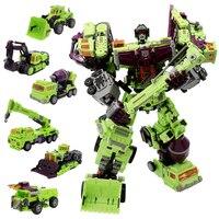 IN STOCK NBK 01 06 Hook Transformation KO GT Devastator Figure Toy Engineering Truck Combiner Toys