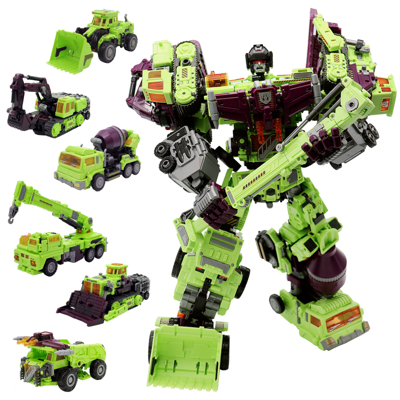 NBK Transformation KO GT Devastator figure toy engineering truck combiner Toys Birthday Gifts For Kids pointed toe over the knee long boots apricot black gray faux suede thin high heel long boots sexy stretch fabric lady sock boots