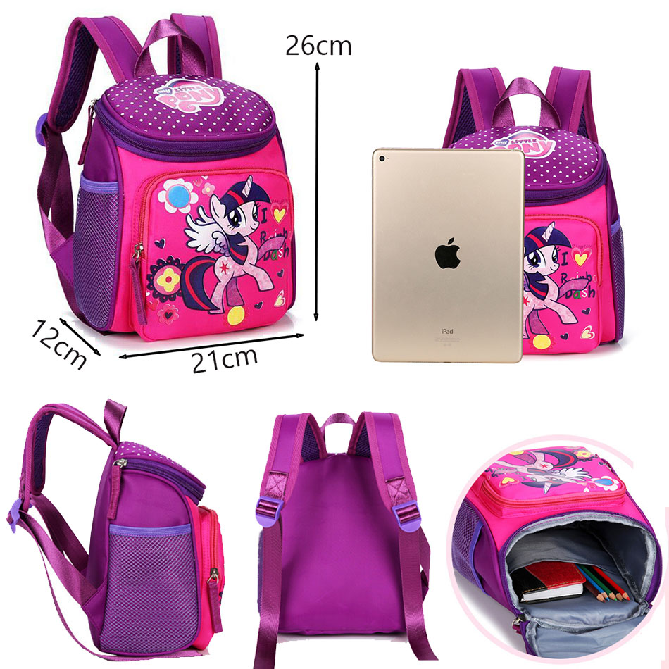 My little pony School bags for Toddler Kids Cute Children Mini Hello Kitty schoolbag Cartoon orthopedic Backpack for boys girls (5)