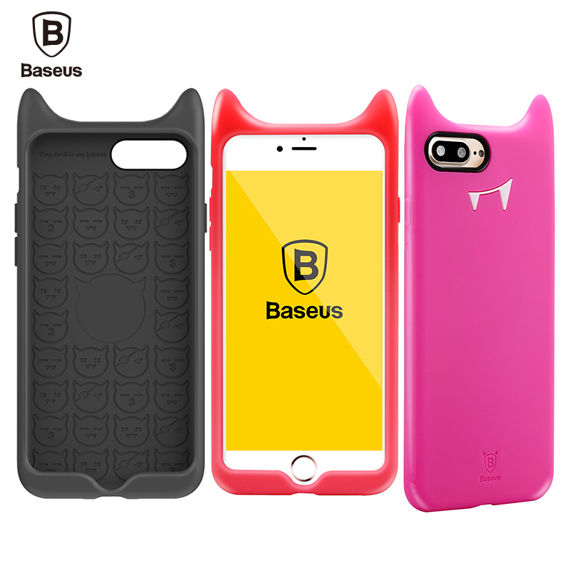 Baseus Silicone Case For iPhone 7Plus Case For iPhone 7Plus Case Cover 5.5 inch Fashion Little Devil Protective Shell
