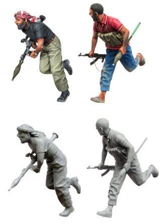 1/35 Resin Figure Arab Rebels 2pcs Model Kits