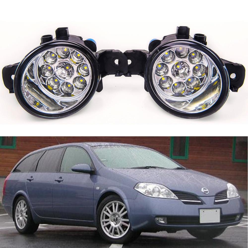 For NISSAN PRIMERA  WP12 P12  2002-2015 Car styling High brightness LED fog lights DRL lights 1SET for lexus rx gyl1 ggl15 agl10 450h awd 350 awd 2008 2013 car styling led fog lights high brightness fog lamps 1set