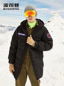 Image 3 - BOSIDENG nowy 90% biały puch gęsi kurtka z kapturem puch gęsi płaszcz dla mężczyzn zagęścić światła znosić wodoodporna wysokiej jakości B80142145