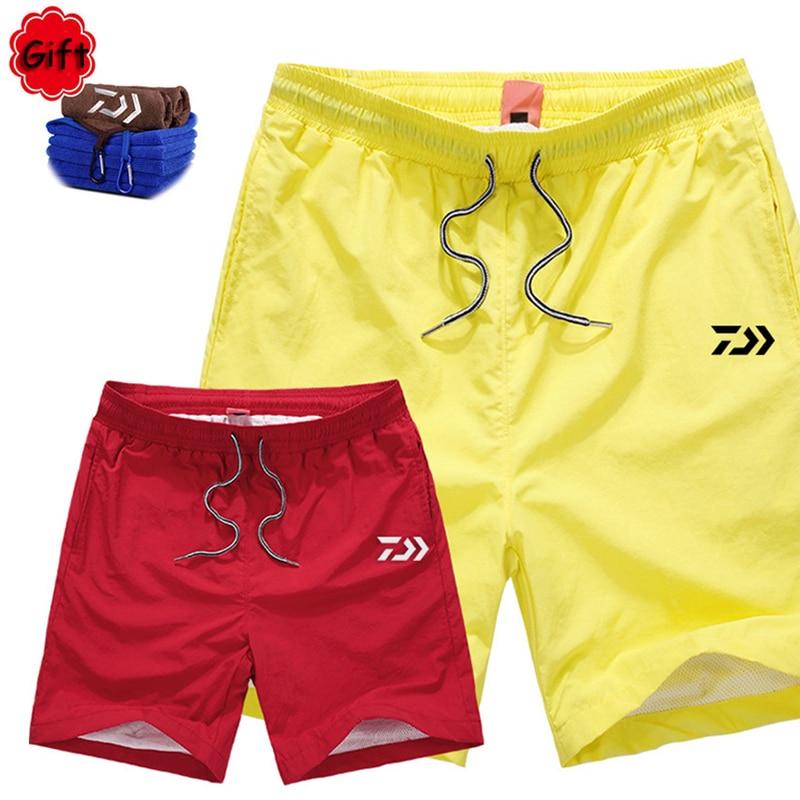 New Outdoor Men Short daiwa Fishing Pant Fishing Clothing Summer Hiking Climbing Camping Sports Pants Free Gift Towel