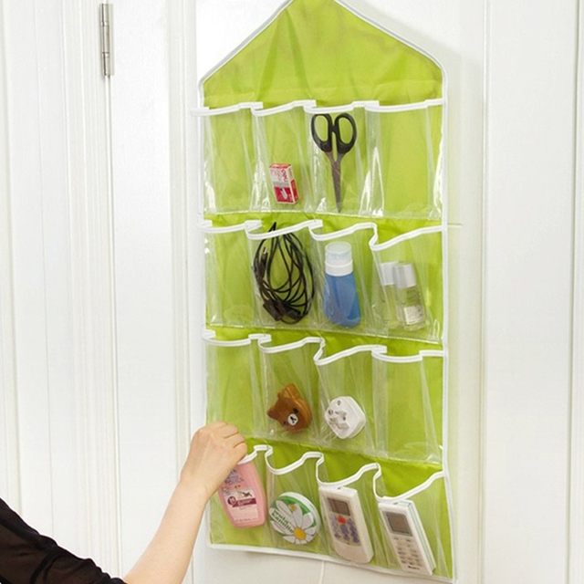 Foldable 16 Pockets Wardrobe Hanging Organizers Socks Briefs Clothing Closet  Shoes Underpants Hanger Organizer