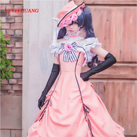 VEVEFHUANG Black Deacon Black Butler Ciel Phantomhive Cosplay Dress Princess Clothing Costume With Hat Glove
