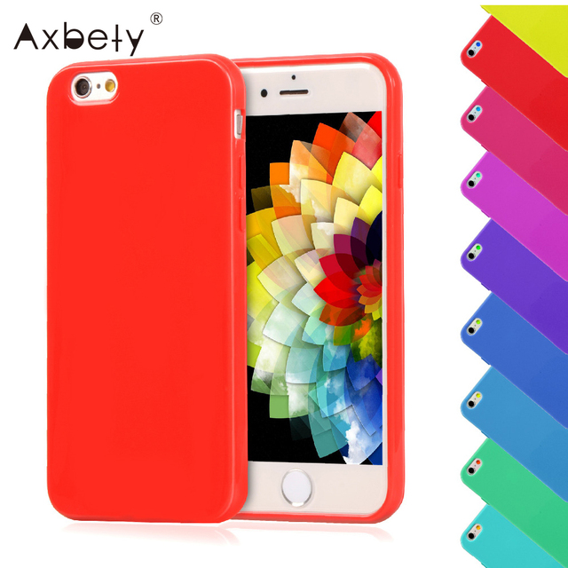 Cute Glossy Candy Case For iphone 4S Case Lovely Jelly Gel Soft Silicone Cover For Apple iphone 4 4G Phone Cases Flexible