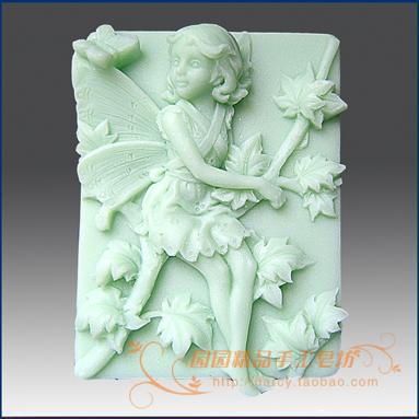 The Flower Child Lunlun Angel Silicone Soap mold 3d handmade silicone mould DIY Carft molds S132