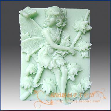Blomsterbarnet Lunlun Angel Silikone sæbeform 3d håndlavet silikoneform DIY Carftforme S132
