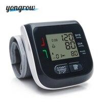 Yongrow Médico Digital de Muñeca Monitor de Presión Arterial Esfigmomanómetro Pulso Del Ritmo Cardíaco Medidor Medir la Salud de la Familia Coche