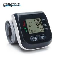 Yongrow Medical Digital Wrist Cuff Blood Pressure Monitor Sphygmomanometer Heart Rate Pulse Meter Measure Family Health