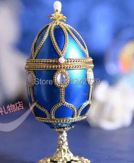 Blue Wine Glass Music Box Eggshell Handmade Royal Style Musicbox Jewelry Box Musical Box Birthday Gift Wedding Special Gift