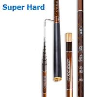 3.6 10m Telescopic Fishing Rod Carbon Fibe Material Fishing Pole Ultra light Carp Rod super hard Stream Hand rod for big fish
